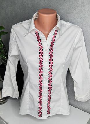 Сорочка на 3/4 рукав з вишивкою