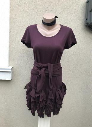 Платье-футболка,туника с воланами,рюшами по низу,люкс бренд,ор...