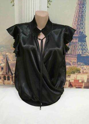 Блуза на запах ostin с искусственного шёлка, размер xl