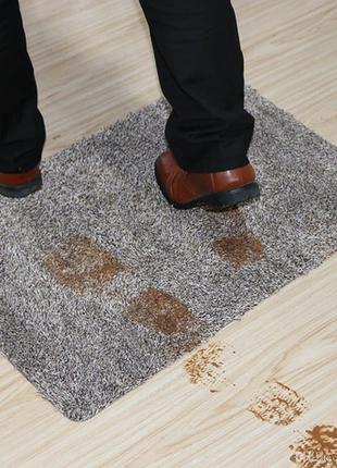 Супервпитывающий придверный коврик Clean Step Mat грязезащитный