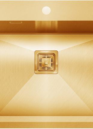 Кухонная мойка 55х51  золото