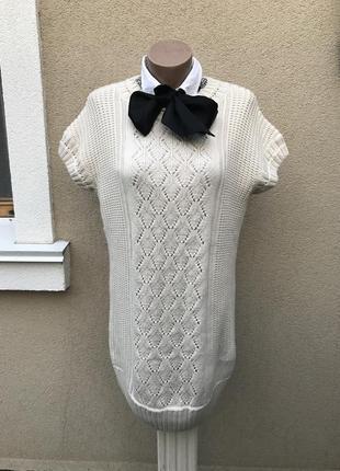 Тёплая,вязанная,трикотаж кофта,туника,жилет,платье,безрукавка,...