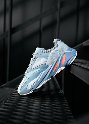 Adidas yeezy boost 700 inertia grey женские кроссовки наложенн...