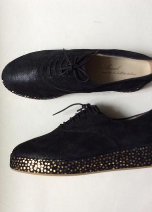 Модные ботинки туфли кроссовки кожа италия anniel
