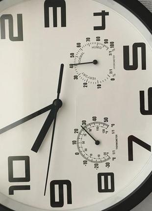 Часы настенные термометр гидрометр тихий ход
