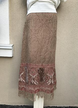 Юбка 100%шерсть,этно,бохо стиле,эксклюзив,schumacher