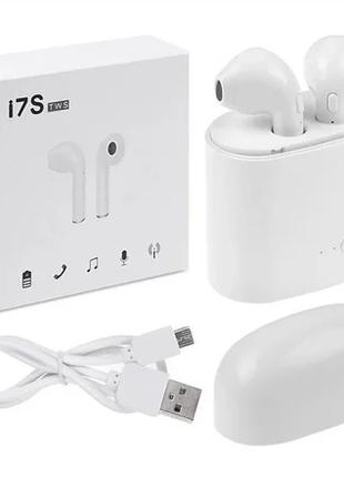 Беспроводные Блютуз наушники Bluetooth I7S TWS Stere