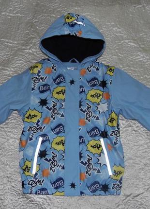 Куртка дождевик на флисе мальчику - lupilu 122-128/6-8 лет - г...