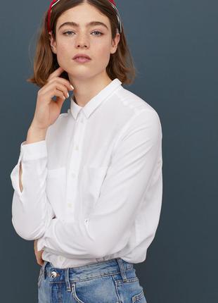 Легкая, базовая рубашка h&m