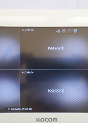 Видеодомофон цветной на 4 камеры Kocom KVR-A510 white