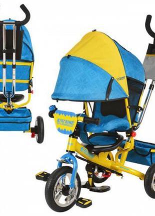 Детский трехколесный велосипед Profi Trike M5361-01 UKR (надувные
