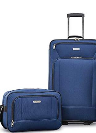 "Чемодан на 2 колесах + сумка на чемодан  ""American Tourister """