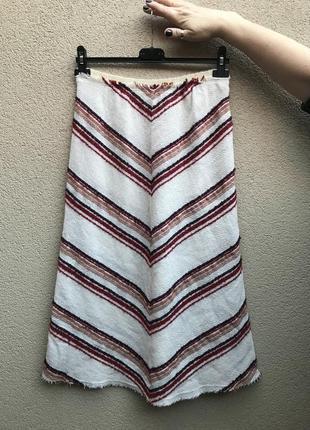Тонкая,шерстяная юбка а-силуэт,этно,бохо,деревенский стиль, un...
