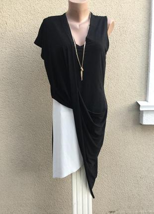 Асимметричное,черно-белое,вечернее платье,коллекция zara