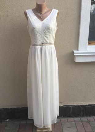 Белое,вечернее,нарядное платье,можно фотосессия ,сарафан,круже...