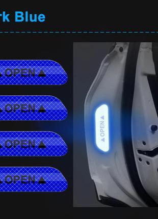 4 шт. предупреждающая светоотражающая наклейка на дверь для авто