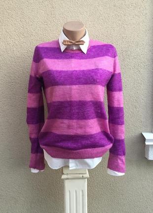 Тонкая,мохеровая кофта,джемпер,свитер в полоску,акрил,шерсть,gap