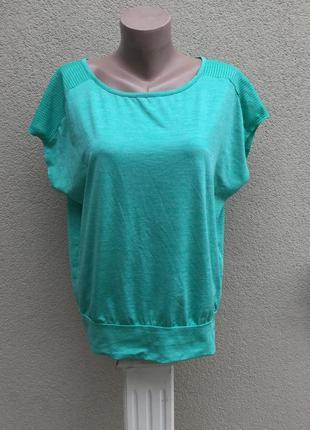 Спортивная,майка,футболка,зелёный меланж,перфорация по плечам,...