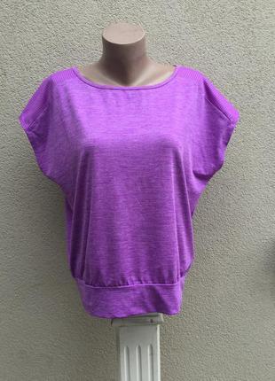 Спортивная футболка,фиолетовый меланж,майка с перфорацией по п...