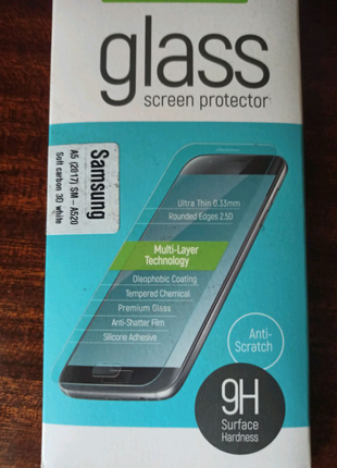 Защитное стекло для Samsung A5 (2017) 3D white