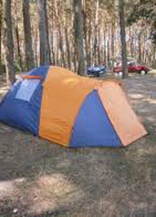 Четырехместная двухслойная палатка Coleman 1036