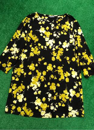Натуральная блуза туника большого размера батал кофта свитер в пр