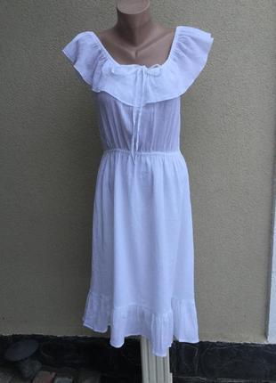Белый сарафан,платье,открытая спина,рюши,воланы,этно,бохо стил...