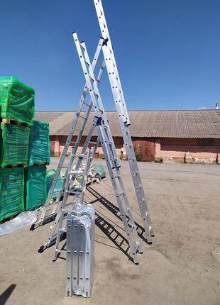 Трехсекционная многофункциональная лестница 3х10 H3 5310