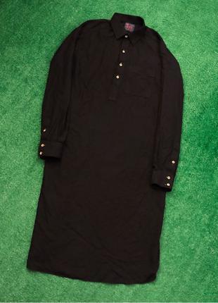 Длинное платье рубашка большого размера батал туника с разрезами