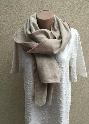Эксклюзив,90% шерсть,длинный,тёплый шарф,этно,шотландия,ручная...