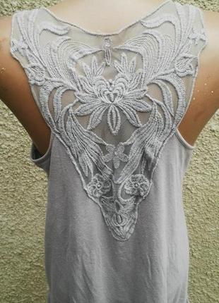 Кружевная майка(туника)платье