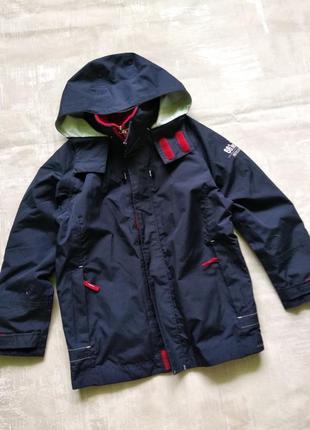 Шикарная термо куртка и мальчику 7-10лет,128-140р.