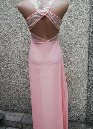 Выпускное платье с паетками,вечернее с открытой спиной