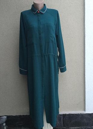 Платье-халат-реглан,длинный рукав,карманы по боку,вискоза,боль...