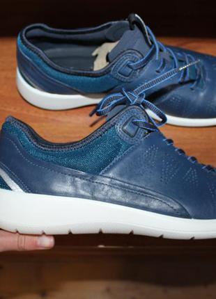 Кожаные кроссовки ecco soft оригинал