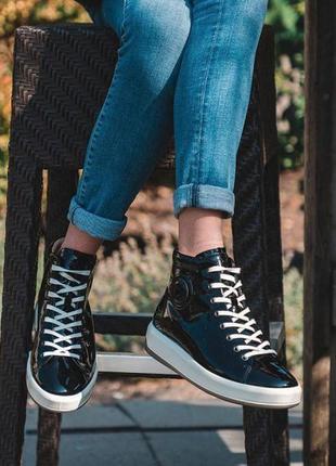 Кожаные ботинки, кеды ecco soft 9 оригинал