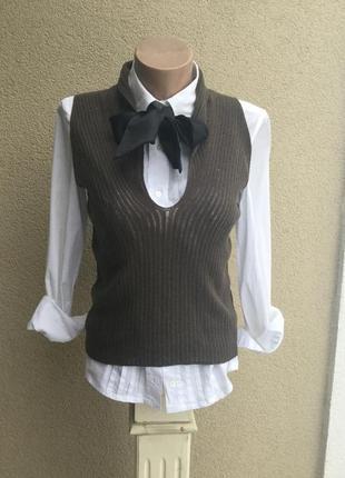 Вязанная,трикотаж жилетка,майка,блуза,кофточка,шерсть,sportmax...