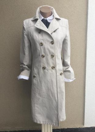 Тренч,плащ,пальто из плотной,льняной ткани,без подкладки,люкс ...