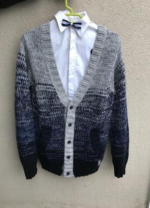 Тёплая,вязанная-меланж,кофта,кардиган,джемпер,шерсть-альпака-а...