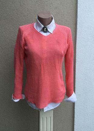 Вязанная,трикотажная,льняная кофта,свитер,джемпер,реглан,люкс ...