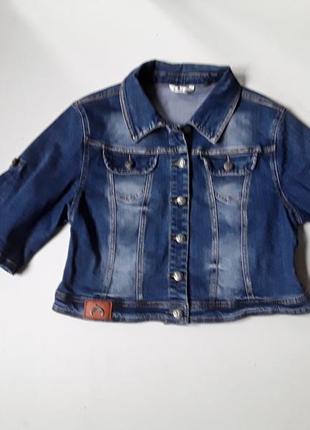 Джинсовый укороченный пиджак  жакет