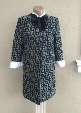 Удлиненный жакет,пиджак,тренч,кардиган,легкое пальто фактурное...