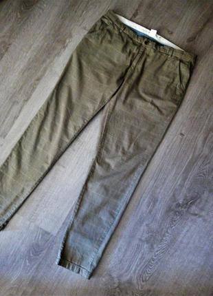 😍стильные трендовые коттоновые брюки в клетку / брючки в клето...