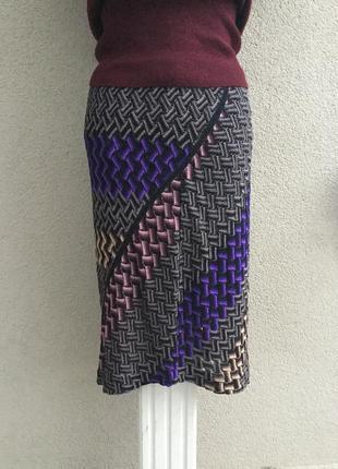 Ажурная,трикотаж юбка,разноцветная,вискоза,италия,missoni,люкс...