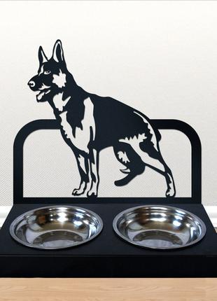 Настенная подставка на две миски для собак, кормушка для животных