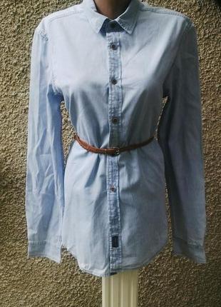 Удлененная джинсовая  рубашка(как мужская,так и женская)