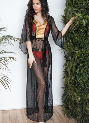 Пляжная туника, длинное пляжное платье, пляжна туника