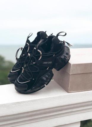 Jimmy choo diamond black женские стильные кроссовки
