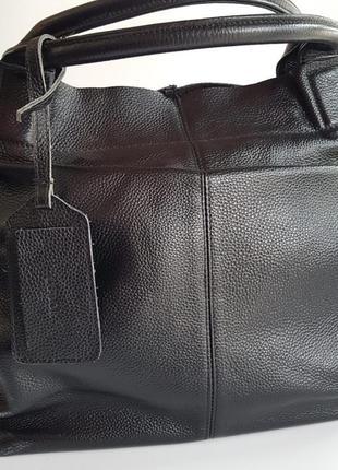 Женская сумка мешок кожа черная prada