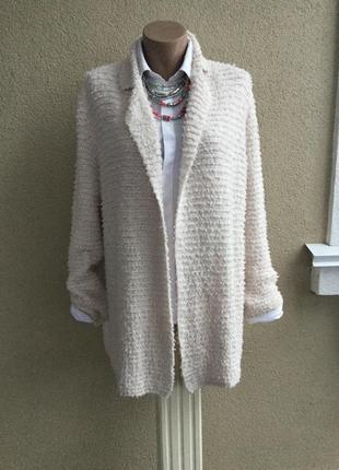 Пушистый,букле кардиган,трикотаж жакет,пиджак,большой размер,ш...